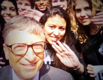 Bill Gates, Cali and Jacky Ido meet our new French Youth Ambassadors
